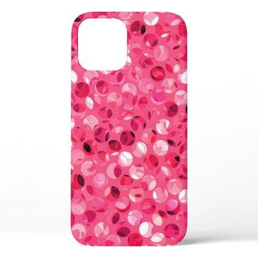 Glitter Pink Circles iPhone 12 Case