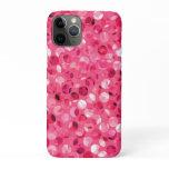 Glitter Pink Circles iPhone 11 Pro Case