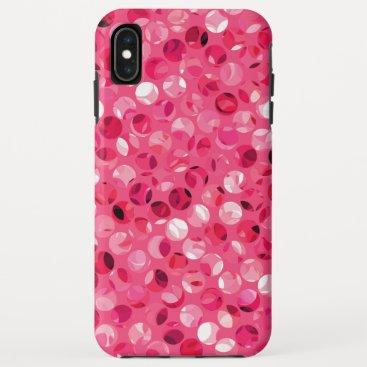 Glitter Pink Circles iPhone XS Max Case