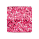 Glitter Pink Circles Checkbook Cover