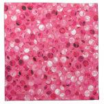 Glitter Pink Circles Cloth Napkin