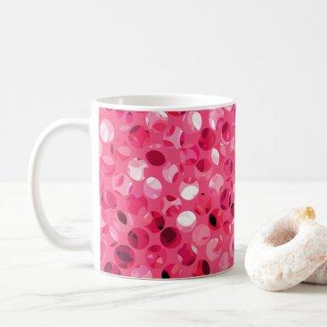 Glitter Pink Circles Coffee Mug