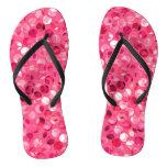Glitter Pink Circles Flip Flops