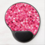 Glitter Pink Circles Gel Mouse Pad