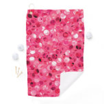 Glitter Pink Circles Golf Towel