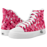 Glitter Pink Circles High-Top Sneakers