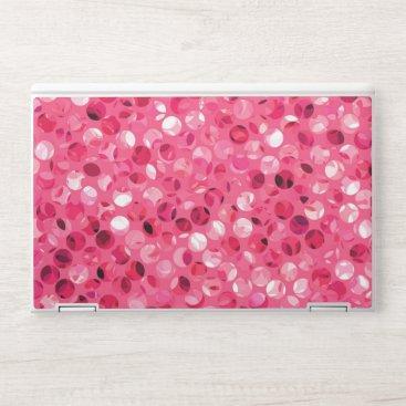 Glitter Pink Circles HP Laptop Skin