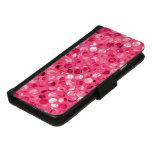 Glitter Pink Circles iPhone 8/7 Wallet Case