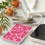 Glitter Pink Circles Keychain