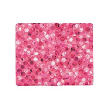 Glitter Pink Circles Large Moleskine Notebook