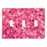 Glitter Pink Circles Light Switch Cover