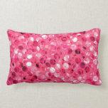 Glitter Pink Circles Lumbar Pillow