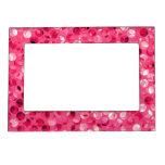 Glitter Pink Circles Magnetic Frame