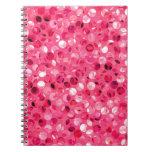 Glitter Pink Circles Notebook