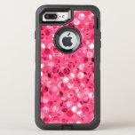 Glitter Pink Circles OtterBox Defender iPhone 8 Plus/7 Plus Case