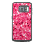 Glitter Pink Circles OtterBox Samsung Galaxy S6 Edge Case