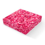 Glitter Pink Circles Paperweight