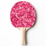 Glitter Pink Circles Ping Pong Paddle