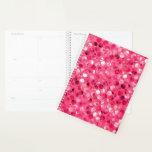 Glitter Pink Circles Planner