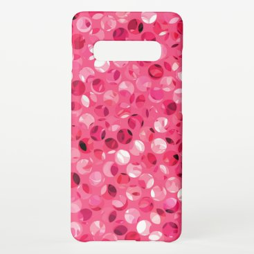 Glitter Pink Circles Samsung Galaxy S10  Case