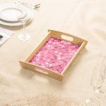 Glitter Pink Circles Serving Tray