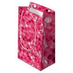 Glitter Pink Circles Small Gift Bag