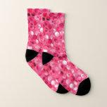 Glitter Pink Circles Socks