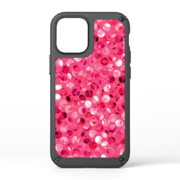 Glitter Pink Circles Speck iPhone 12 Mini Case