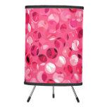 Glitter Pink Circles Tripod Lamp