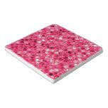 Glitter Pink Circles Trivet