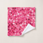 Glitter Pink Circles Wash Cloth