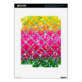 Glitter Pink Snakeskin Decals For iPad 3