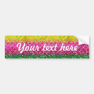 Glitter Pink Snakeskin Car Bumper Sticker