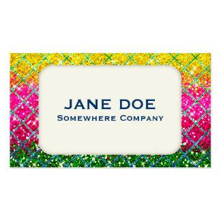Glitter Pink Snakeskin Business Card