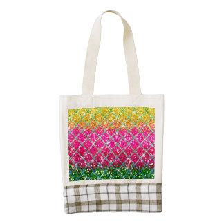 Glitter Pink Snakeskin Zazzle HEART Tote Bag