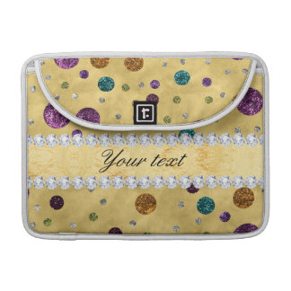 Glitter Polka Dots and Diamonds Sleeve For MacBook Pro