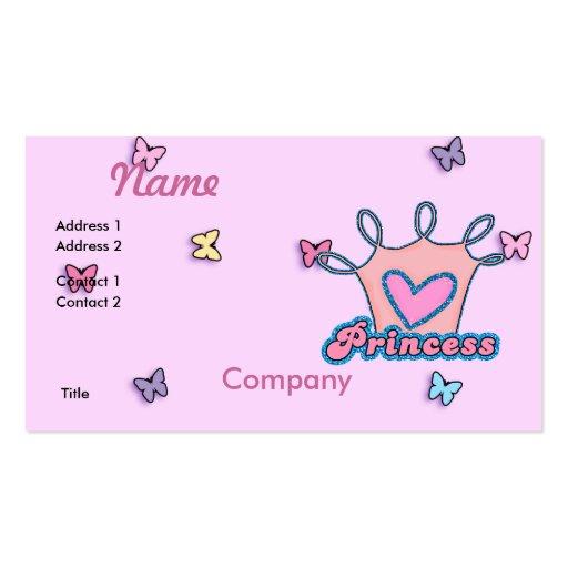 Glitter Princess Design Business Card