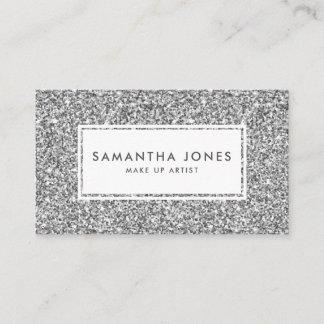 Glitter Print Pretty Feminine Business Cards