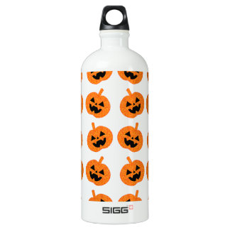 Glitter Pumpkins Aluminum Water Bottle