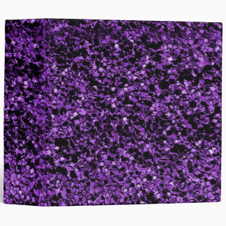 Glitter purple binder