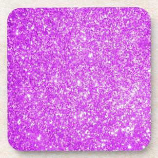 Glitter Purple Coaster