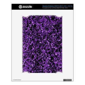Glitter purple decals for NOOK
