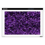 Glitter purple laptop skin