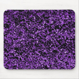 Glitter purple mouse pad