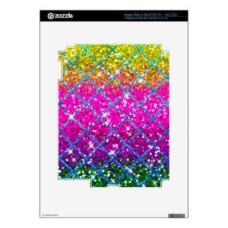 Glitter Purple Snakeskin iPad 3 Skin