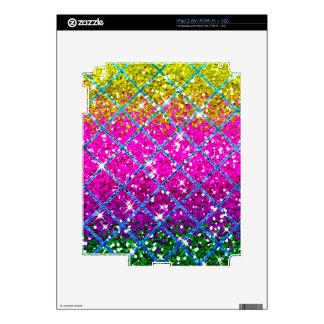 Glitter Purple Snakeskin Skins For iPad 2
