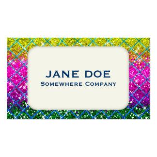 Glitter Purple Snakeskin Business Card