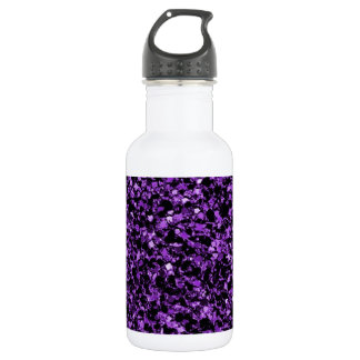 Glitter purple stainless steel water bottle