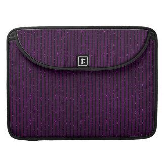 glitter purple stripes Macbook sleeve Sleeve For MacBook Pro