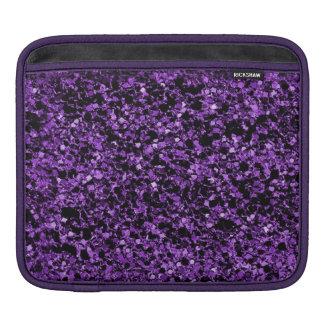 Glitter purple texture Rickshaw iPad sleeve